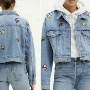 Levi's® x Super Mario Cropped Dad Trucker Jacket